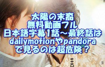 太陽の末裔無料動画フル日本語字幕1話~最終話はdailymotionやpandoraで見るのは超危険?