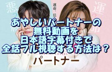 あやしいパートナーの無料動画を日本語字幕付きで全話フル視聴する方法は?