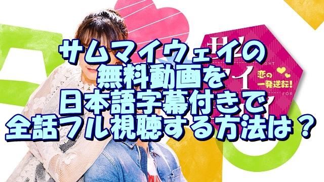 サムマイウェイの無料動画を日本語字幕付きで全話フル視聴する方法は?