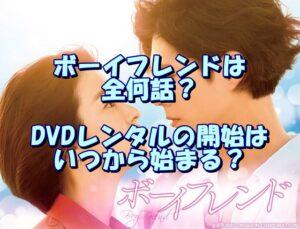 ボーイフレンドは全何話?DVDレンタルの開始はいつから始まる?